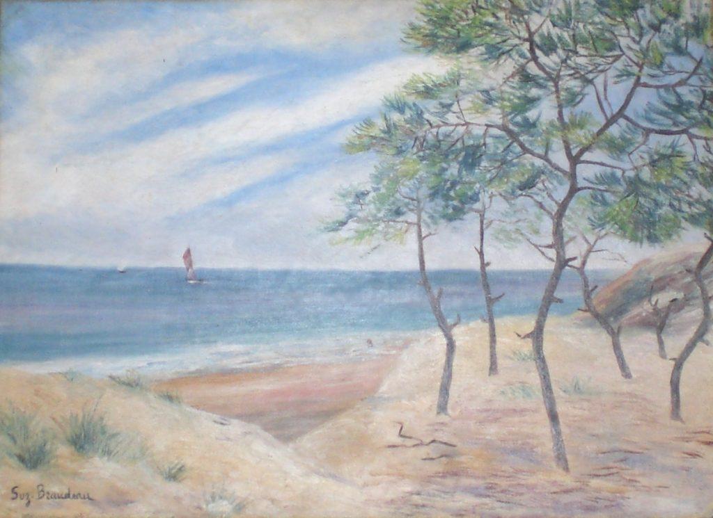 Dunes et mer calme