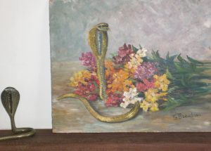 Giroflées au serpent et son sujet