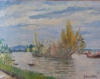 Ile sur la Seine - Huile