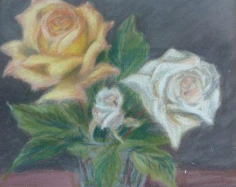 Roses jaune et blanche